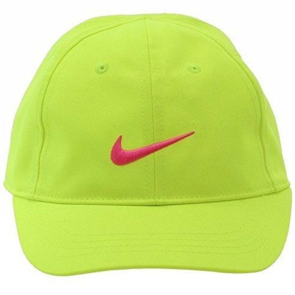 fff66bde361 Nike Hat Baseball Cap Volt Pink Swoosh Just Do It